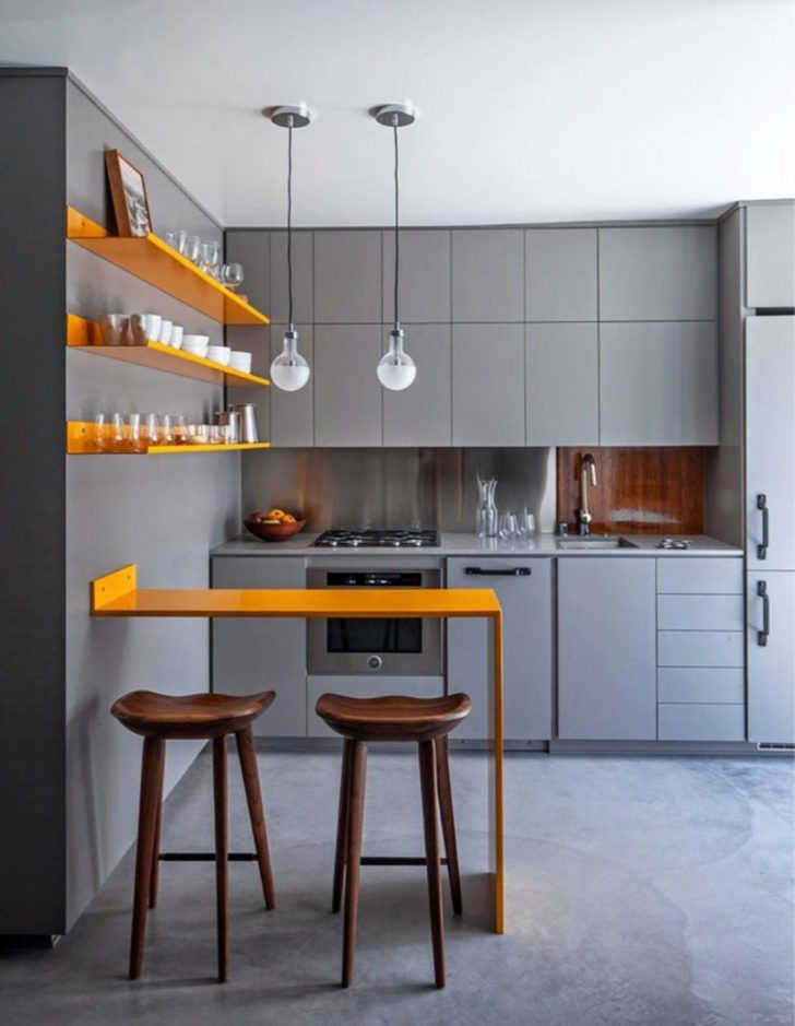 Awesome Grey Small Kitchen Design Ideas