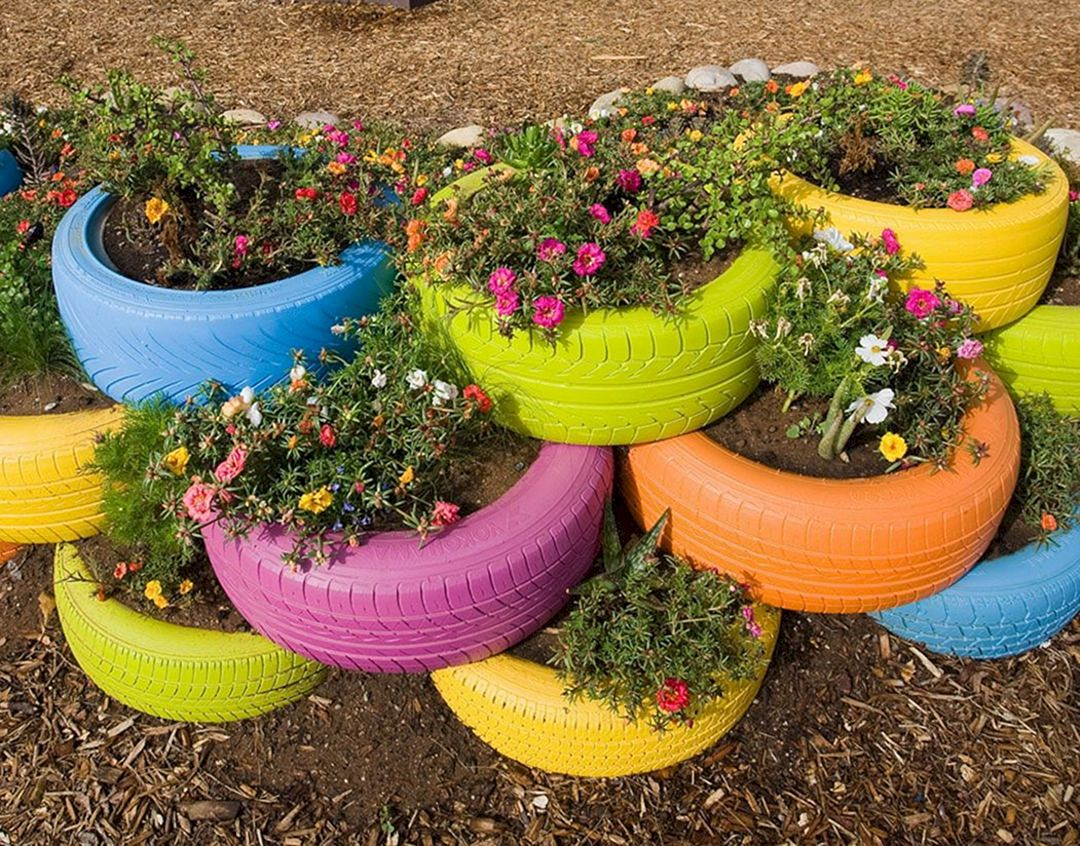15 Wonderful Diy Garden Ideas From Recycled Materials Dexorate