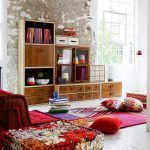Boho Living Room Ideas With Cabinets And Shelves - Source hit-interiors.com
